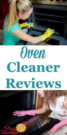 Here is a round up of oven cleaner reviews from several brands to find out which products work best to clean your oven, don't smell to bad and aren't too caustic {on Stain Removal 101} Deep Cleaning Tips, House Cleaning Tips, Cleaning Solutions, Spring Cleaning, Cleaning Hacks, Cleaning Supplies, Ocd, How To Remove Kitchen Cabinets, Oven Cleaner