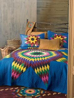 Look at the colors and patterns of this quilt!