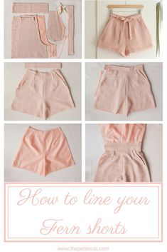 Afternoon, an indie sewing pattern label based in Cape Town, South Africa, has recently released a new sewing pattern! Fern is a lovely vintage-inspired pair of shorts featuring turn-up cuffs, oh-so… Dress Sewing Patterns, Vintage Sewing Patterns, Clothing Patterns, Pattern Sewing, Free Pattern, Skirt Pattern Free, Short Pattern, Fashion Patterns, Sewing Shorts