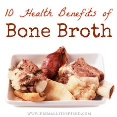 Chinese medicine uses bone broth for boosting the immune system, supporting digestive systems and building blood. Bone broth helps heal gut permeability. The gelatin in bone broth heals the mucosal lining of the digestive tract. Gelatin rich bone broth has glycine, aiding the liver's ability to detox toxins efficiently. Chondroitin sulfate is a structural component of cartilage and has been found to improve inflammatory conditions.