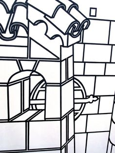 Patrick Caulfield - City Lines Base Image, Architectural Features, Photorealism, Ways Of Seeing, Colouring Pages, Still Image, Art And Architecture, Painters, Art History