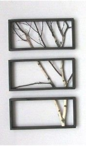 For the Home / DIY | Tree| really love this idea, I would paint the tree fully black #art #frame #diy #home