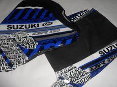 seat cover Tanks Cover blu  sella di moto suzuki dr 350 KIT!! FREE SHIPPING