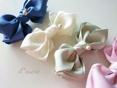 Making Hair Bows, Diy Hair Bows, Diy Bow, Diy Ribbon, Ribbon Crafts, Ribbon Bows, Ribbons, Baby Girl Headbands, Baby Bows