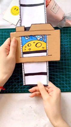 Diy Crafts For Kids Easy, Diy Crafts Hacks, Diy Crafts For Gifts, Craft Activities For Kids, Diy Home Crafts, Cool Paper Crafts, Paper Crafts Origami, Diy Paper, Fun Crafts