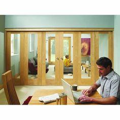 Freefold Oak Internal Folding Doors