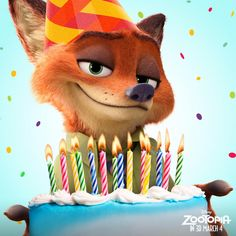 Zootopia. Happy birthday to the slyest fox we know, Jason Bateman, voice of Nick Wilde!