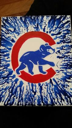 Chicago Cubs HOME Door Hanger by WhimsEchols on Etsy | Sometimes I ...