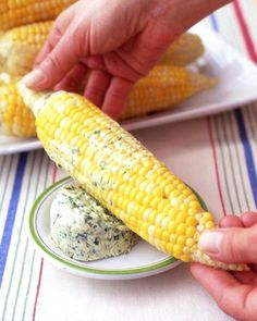 Corn on the Cob with Chive Butter Recipe