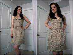A new summer dress with a cute retro caning print