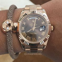 Rolex Day-Date II pair with VERÜS bracelet$27500for more info