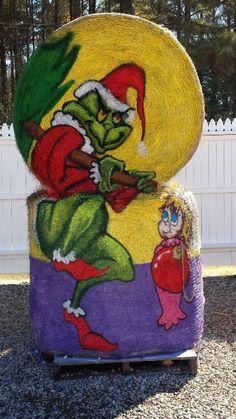 Painted Hay Bale by Cyndi McKnight for Hill Ridge Farms 2014