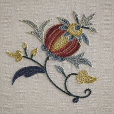 A perfect 18th century motif #handembroidery #chelseatextiles #embroidery | SnapWidget