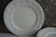 Antique English Ironstone PlatesSet of Four by ironstonevintage, $75.00