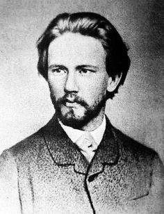 Pyotr Tschaikovsky in 1874 at 34. Rawr!