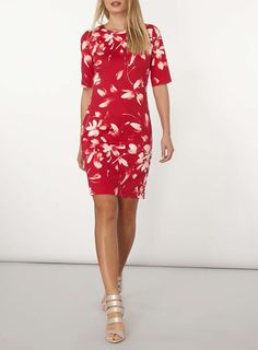 Womens **Lily & Franc Pink Floral Shift Dress- Pink
