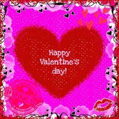 ♥Kaartje2go - Valentijnskaarten - Happy Valentines day rood hart