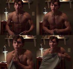 Tom Holland shirtless
