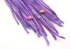 """Weiteres - 10 DE Mermaid Wooldreads """"Purple Rain"""" - ein Designerstück von Katinka-Dreads bei DaWanda"""