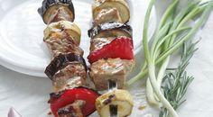 Шашлык из свинины в овощном маринаде