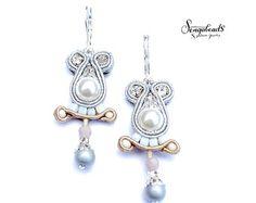 Small soutache earrings. Sterling silver earring от Sengabeads