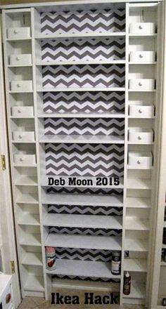 Craft Storage Behind Door