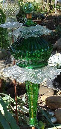 Glass garden totems...easier than homemade pie!