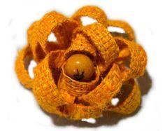 Flor Juta Colorida com Semente 7 Cm