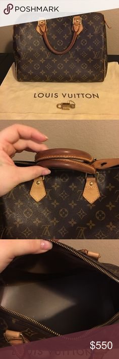 Louis Vuitton Speedy 35 In beautiful used condition.Will come with base shaper,lock/key and dust bag.code:Sd4099.priced to sell because I want to get a speedy 40 Louis Vuitton Bags Satchels