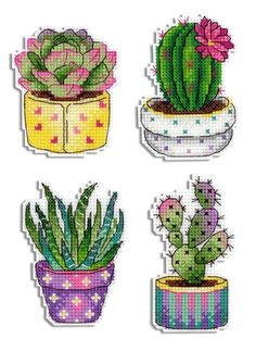 Succulent Cactus cross stitch Pattern Hand Embroidery Modern Pattern PDF Plant cross stitch PDF Chart Cactus Collage Chart Begginer needlec - DIY and Crafts Disney Cross Stitch Kits, Counted Cross Stitch Patterns, Cross Stitch Charts, Cross Stitch Embroidery, Cross Stitching, Hand Embroidery, Embroidery Patterns, Embroidery Bracelets, Hardanger Embroidery