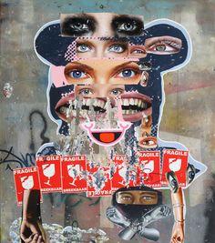 Asha Zero's Painted Collages