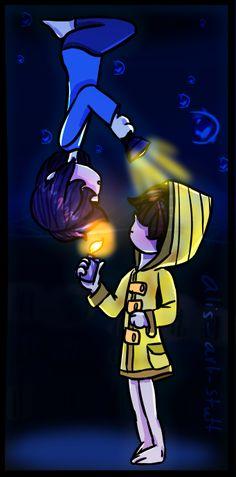 Runaway Kid meets Six by Video Game Drawings, Cool Drawings, Little Nightmares Fanart, Runaway Kids, Wow 3, Horror Video Games, Bad Memes, You Are Cute, It Goes On
