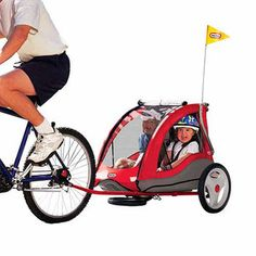 Bike trailer that converts to a stroller.  Need this soooo very badly