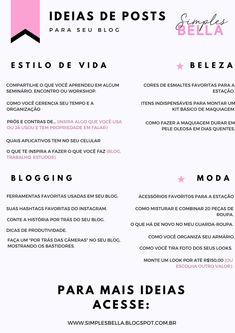 Está sem ideias de quais posts publicar em seu blog? Começou um blog agora e já está com bloqueio criativo? Não existe um blogueiro que não lute contra a falta de ideias, é normal, por isso eu trouxe uma lista com 47 incríveis ideias de posts para te ajudar. Elas podem ser incluídas em blogs de moda, estilo de vida, receitas, viagem ou blogs de beleza. Confira! #blogging #blogging #ideiasdeposts #dicasparablogs #dicaparablog #blogueira #ideias #freebie #conteudo #contentmarketing