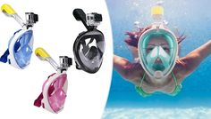 Snorkel Masks with HD Camera Option NOW £19.99 WAS £69.99  - Go Groupie