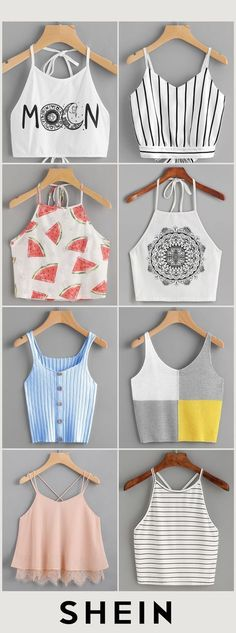 Crop tops ideas para Crop top outfits Summer Outfits Travel Outfits 2019 Spring O … - Girls Fashion Clothes, Teen Fashion Outfits, Mode Outfits, Outfits For Teens, Girl Outfits, Travel Outfits, Fashion Fashion, Fashion Dresses, Preteen Fashion