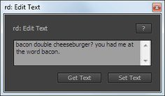 rd: Edit Text: click to view this user interface