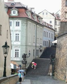 Prague in Mala Strana near the castle