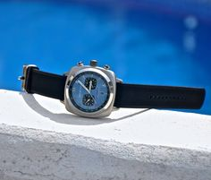#watchoftheday by @ImportempoRelógios #watch #briston Clubmaster Sport brushed Chronograph and light blue dial