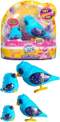 Animals 145942: Little Live Pets Tweet Talking Owl And Baby Nightstar Family Nib Needs Battery -> BUY IT NOW ONLY: $31.35 on eBay!