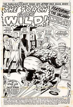 Splash page to FANTASTIC FOUR #99 by Jack Kirby and Joe Sinnott