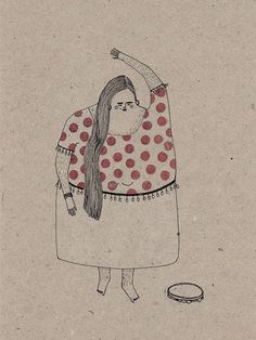 hairy gypsies by anna lubińska, via Behance