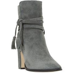 Dune Onyx Block Heeled Ankle Boot , Grey Suede ($180) ❤ liked on Polyvore featuring shoes, boots, ankle booties, ankle boots, grey suede, suede boots, gray ankle boots, suede ankle booties, gray booties and gray suede booties