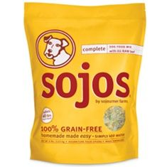 Sojos Complete Dog Food Mix  we recommend. It is a wholesome grain-free premix that you simply combine with water to create your own fresh, homemade pet food. Made with USDA freeze-dried raw meat and all-natural ingredients, Sojos is perfect for when you're traveling and can't keep the BARF Diet patties and nuggets frozen. It's also a great addition to your emergency preparedness kit and for those pet owners that prefer to split feed their pets a raw and dry food diet.