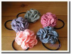 お花みたいな☆フリルたっぷりのヘアゴム♪の作り方 編み物 編み物・手芸・ソーイング ハンドメイド・手芸レシピならアトリエ