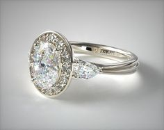 Engagement Ring Styles, Designer Engagement Rings, James Allen Rings, Thing 1, Pear Shaped Diamond, Diamond Settings, Dream Ring, Diamond Design, Diamond Heart