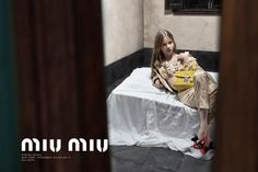 Rising Stars Mia Goth, Imogen Poots and Marine Vacth Photographed by Steven Meisel for Miu Miu SS 2015 l #fashion