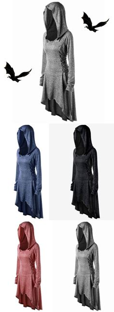 Plus Size Lace Up Dip Hem Hoodie,sammydress,sammydress.com
