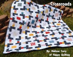 Happy Quilting: Crossroads - A Quilt Tutorial featuring Gingham Girls!!!