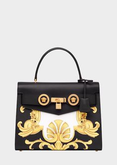 0894f8b73cf7 Large Barocco Print Icon Handbag from Versace Women s Collection. The  iconic Versace bag - crafted